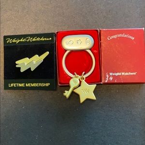 Weight Watchers Pin and Keychain with Charms